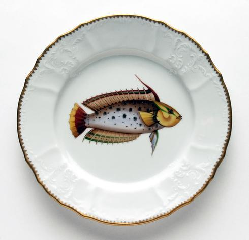 $129.00 Rainbow Spotted Dinner Plate