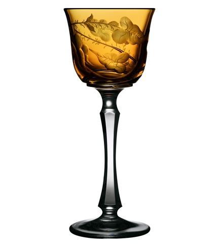 $268.00 Rainforest Amber Wine Glass
