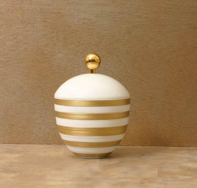 $452.00 Sugar Bowl with Gold Accents