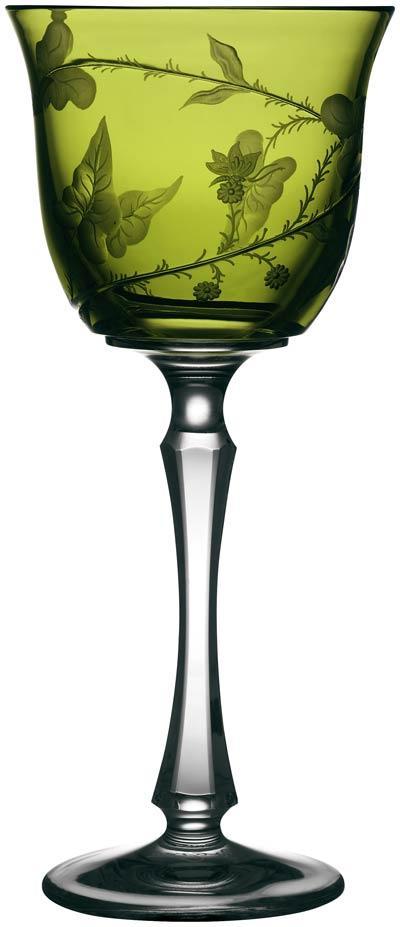 $268.00 Rainforest Yellow/Green Water Glass