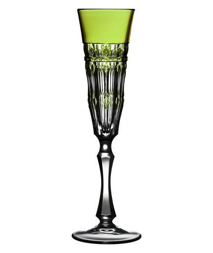 $268.00 Yellow/Green Champagne Flute