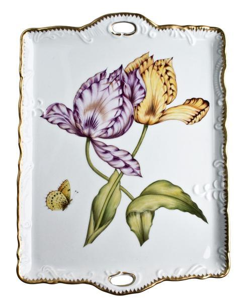 Anna Weatherley  Old Master Tulips Small Tray With Handles $454.00