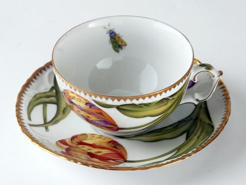 $498.00 Double Tulips Cup & Saucer