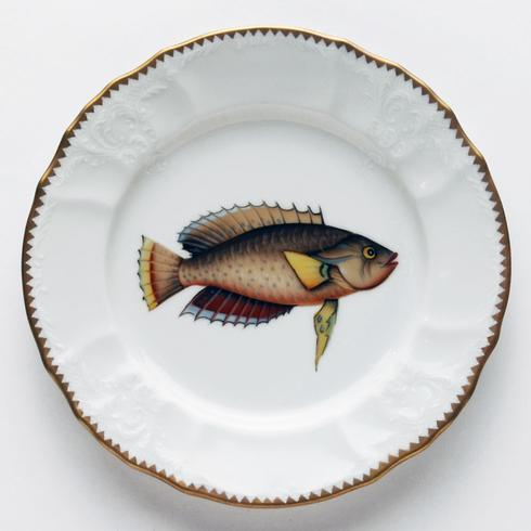 $320.00 Blue/Brown/Red Salad Plate