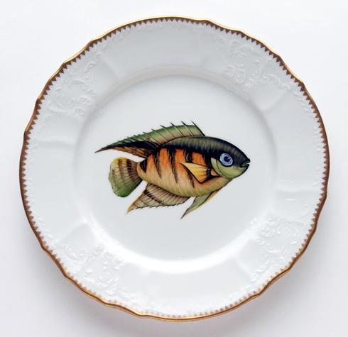 $405.00 Green/Orange Dinner Plate