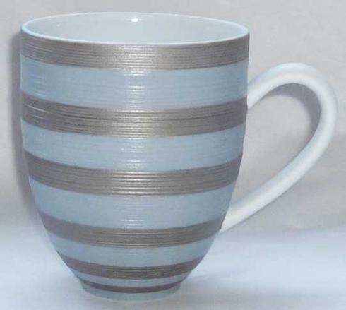 $148.00 Storm Blue With Metallic Grey Stripes Mug