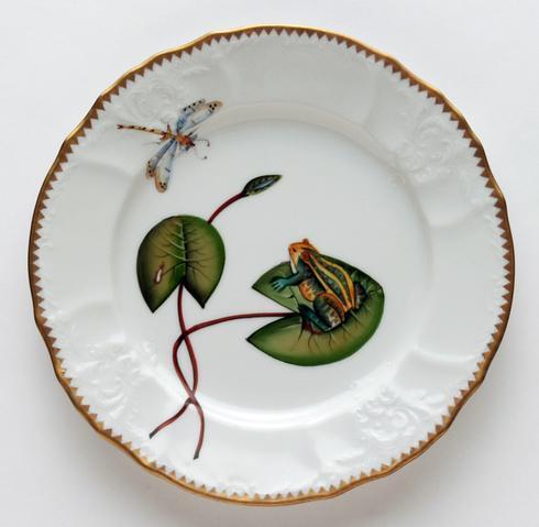 $300.00 Frog On Lily Pad Salad Plate