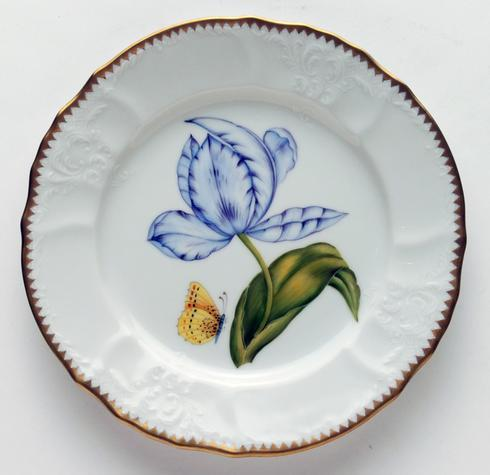 $300.00 Purple & Blue Tulip Salad Plate