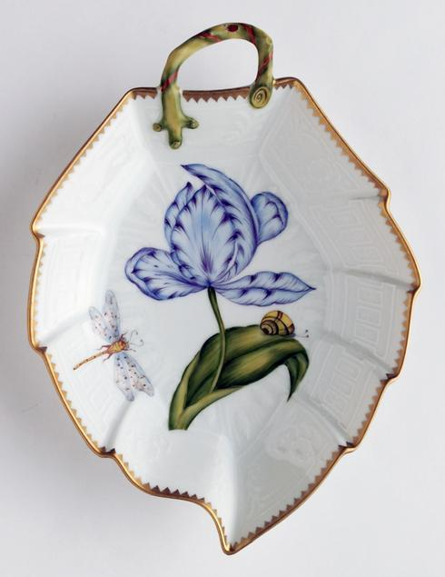 $380.00 Blue & Purple Tulip Leaf Dish