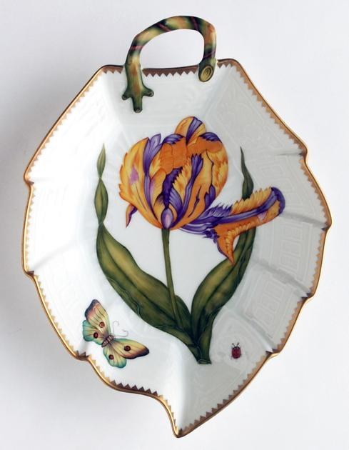 $380.00 Purple & Yellow Tulip Leaf Dish