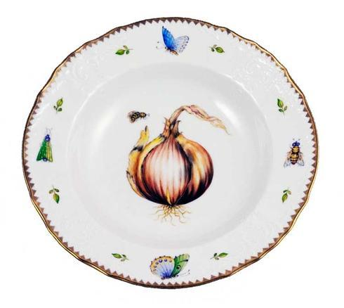$375.00 Antique Onion Rim Soup Plate