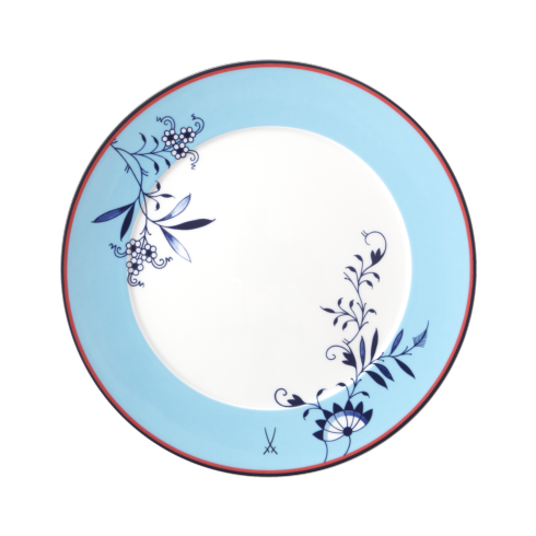 $210.00 Bloomy Feathers Dinner Plate