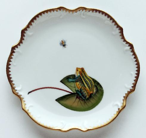 $290.00 Frog On Lily Pad Bread & Butter Plate
