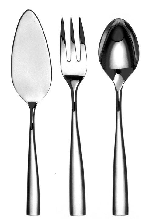 Couzon Stainless Steel Flatware Silhouette Four Piece Hostess Set $240.00