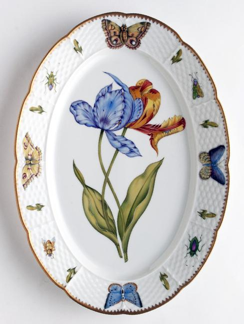 Anna Weatherley  Old Master Tulips Oval Platter $558.00