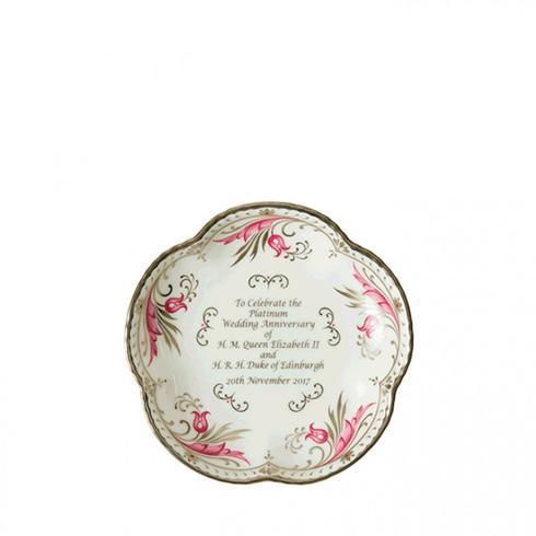 $105.00 Queen\'s Platinum Wedding Anniversary - Five Petal Tray