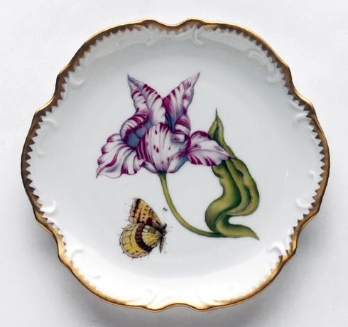 $300.00 Pink & White Tulip Bread & Butter Plate