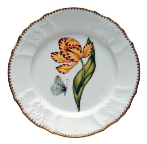 Anna Weatherley  Old Master Tulips Yellow & Red Tulip Salad Plate $300.00