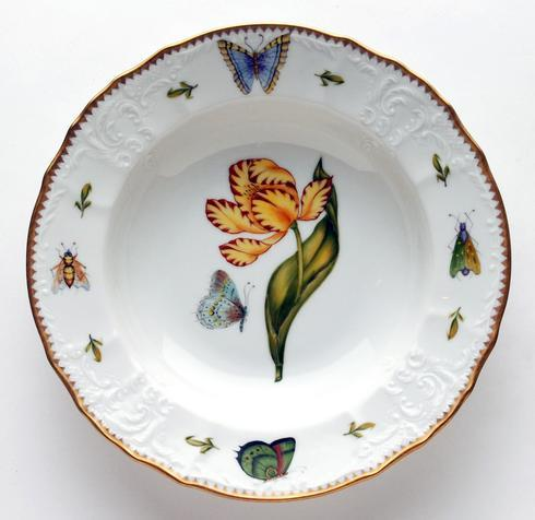 $450.00 Yellow & Red Tulip Rim Soup Plate