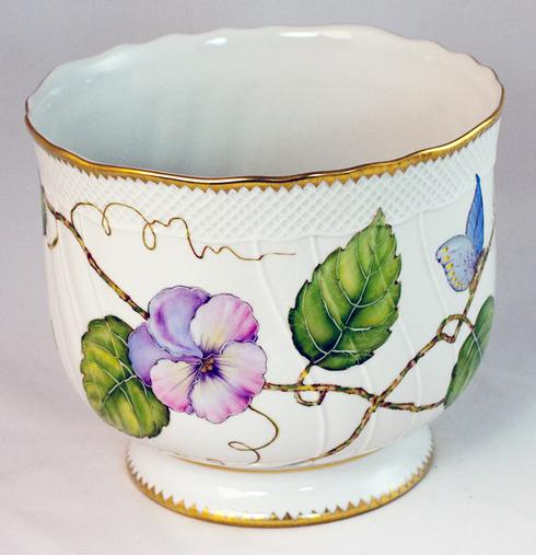 Anna Weatherley  Giftware Pansy Cachepot $425.00