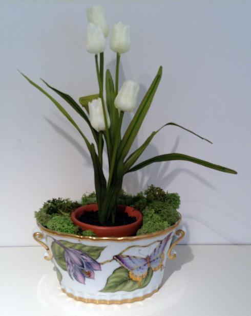 $398.00 Iris Oval Cachepot