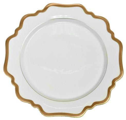 Anna Weatherley  Antique White with Gold Dinner Plate $90.00