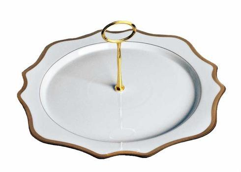 Anna Weatherley  Antique White with Gold Charger Plate Tray $180.00