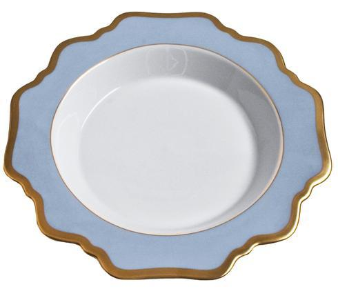 Anna Weatherley  Anna\'s Palette - Sky Blue Rim Soup Plate $92.00