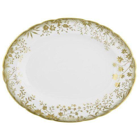 Royal Crown Derby  Arboretum Gold Medium Platter $480.00