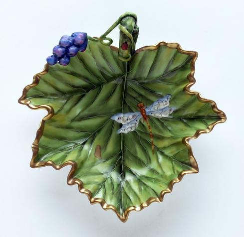 $398.00 Accessory Dish With Grapes