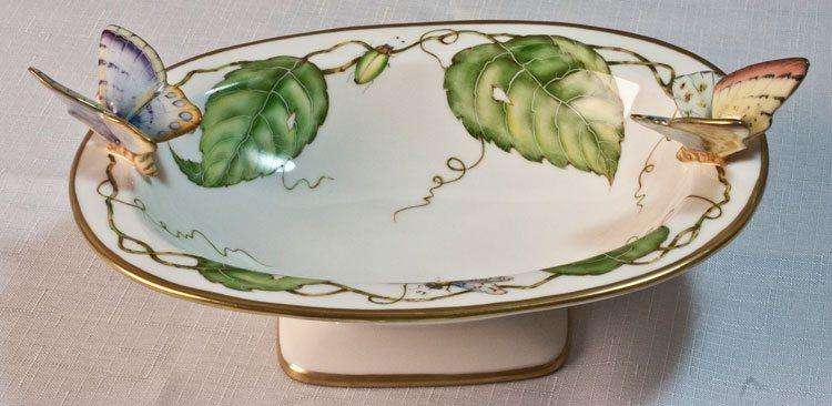 $828.00 Oval Dish with Butterflies