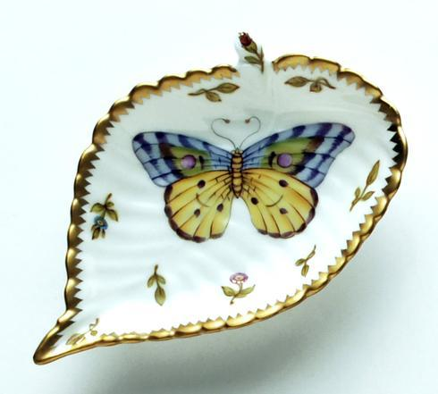$149.00 Large Purple & Yellow Butterfly Leaf Ring Dish