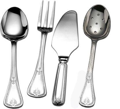 Couzon Stainless Steel Flatware Consul Four Piece Hostess Set $195.00
