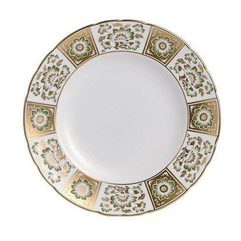 Royal Crown Derby  Derby Panel - Green Dinner Plate $170.00