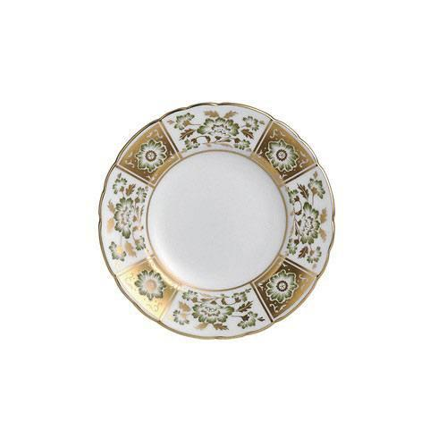 Royal Crown Derby  Derby Panel - Green Bread and Butter Plate $115.00