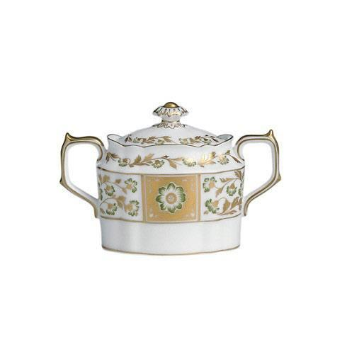 Royal Crown Derby  Derby Panel - Green Covered Sugar Bowl $390.00