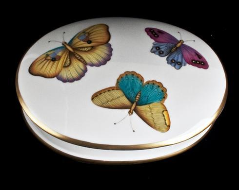 $345.00 Exotic Butterflies Round Covered Dish