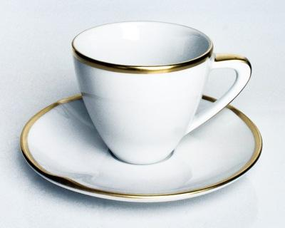 Anna Weatherley  Simply Elegant - Gold Expresso Cup & Saucer $68.00