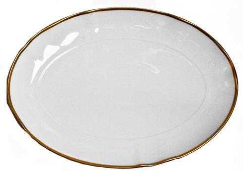 Anna Weatherley  Simply Elegant - Gold Oval Platter $110.00