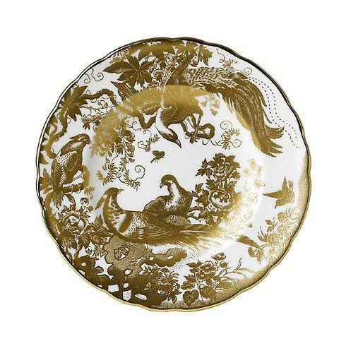 Royal Crown Derby  Aves - Gold Dinner Plate $225.00