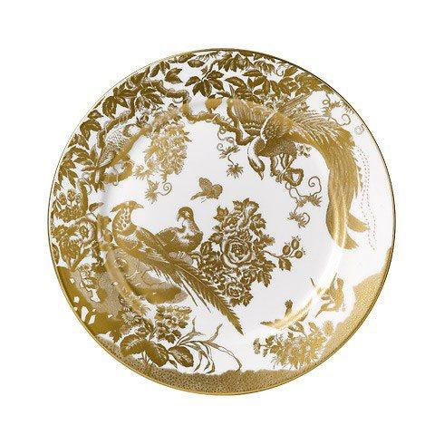 Royal Crown Derby  Aves - Gold Salad Plate $185.00