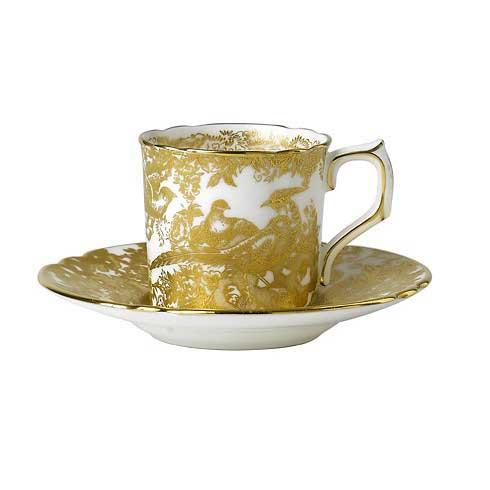 Royal Crown Derby  Aves - Gold Coffee Saucer $100.00