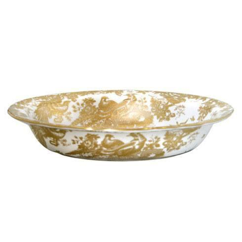 Royal Crown Derby  Aves - Gold Open Vegetable Dish $550.00