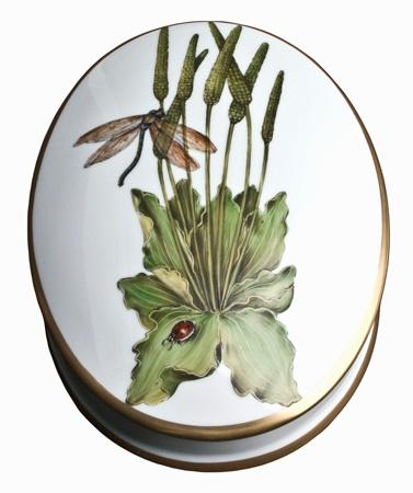 $420.00 Oval Box with Dragonfly