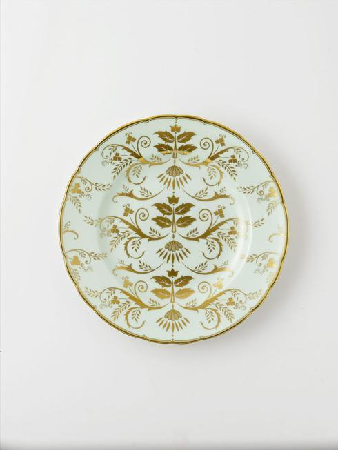 Royal Crown Derby  Darley Abbey Harlequin - Green Salad Plate $205.00