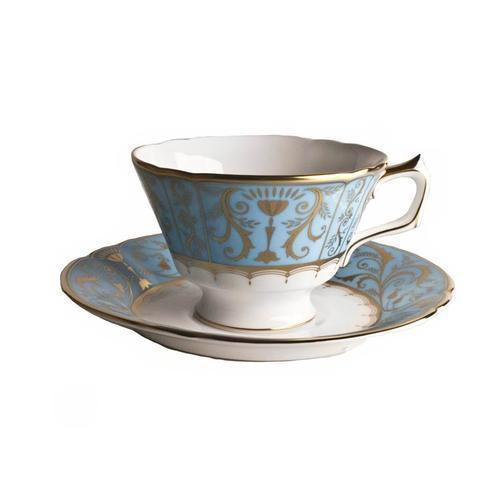 Royal Crown Derby  Darley Abbey Harlequin - Duck Egg Tea Saucer $110.00