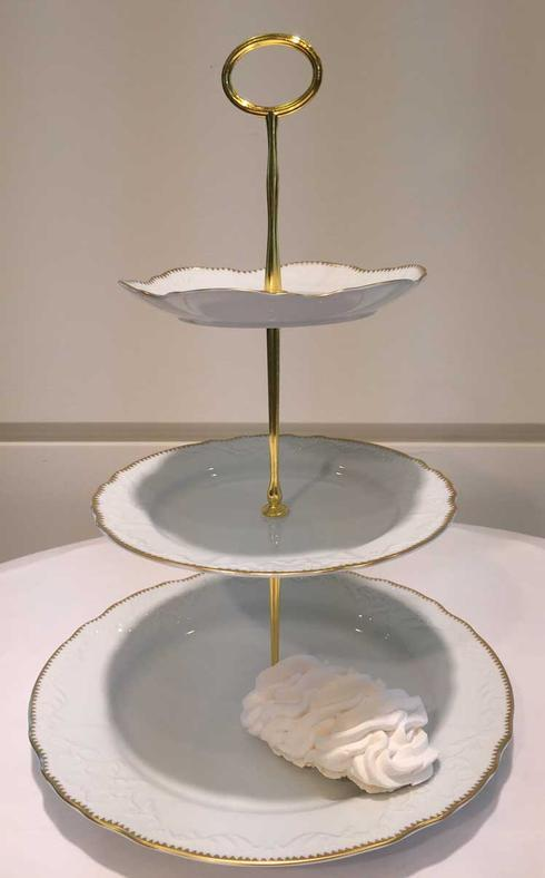 Anna Weatherley  Simply Anna - Gold 3 Plate Tiered Cake Stand $190.00