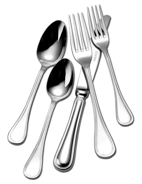 Couzon Stainless Steel Flatware Lyrique Five Piece Place Setting $85.00