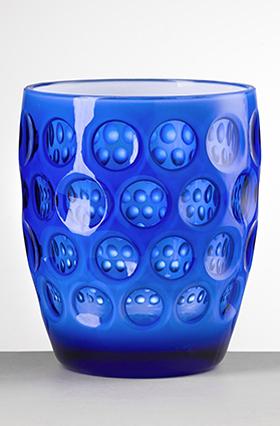 Mario Luca Giusti Barware Lente Tumbler Blue/White  $18.00