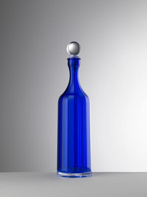 $70.00 Blue Decanter With Sealed Stopper